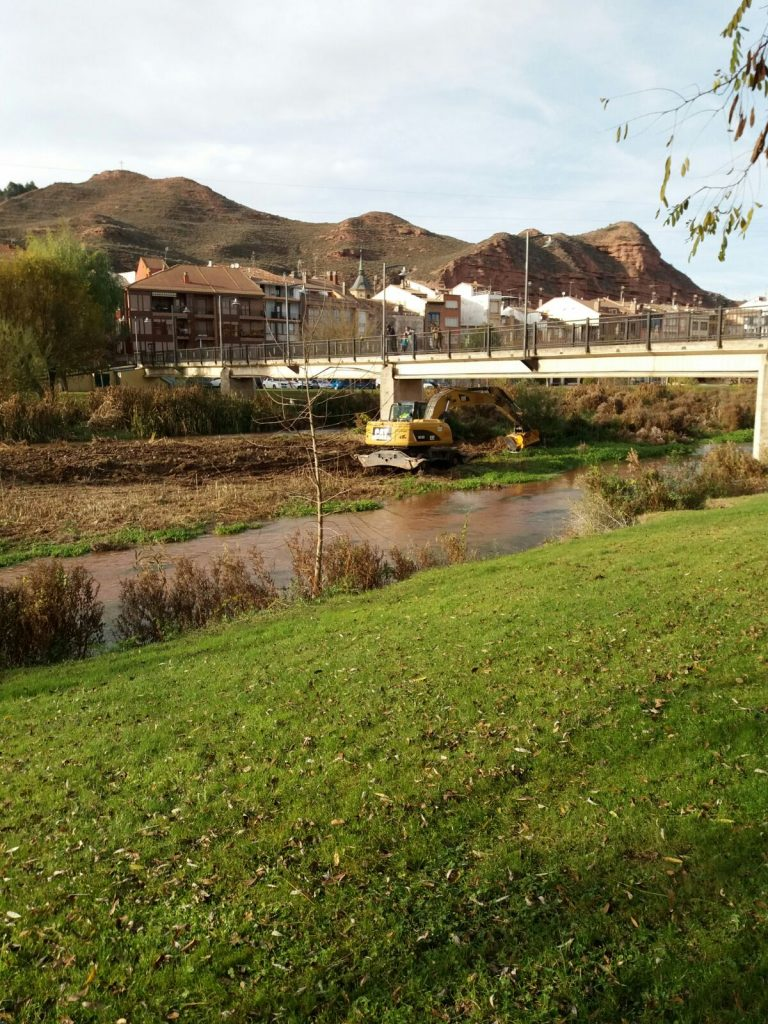 Trabajos de acondicionamiento del río Najerilla en su zona urbana